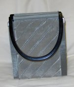 Bo's Art Handbag - Elvira Embossed Stripes
